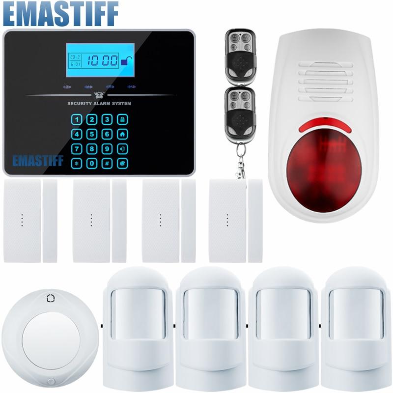 Door Window Entry Security  Wireless Remote Control Door Sensor GSM Alarm Host Burglar Security Alarm System Home Protection Kit