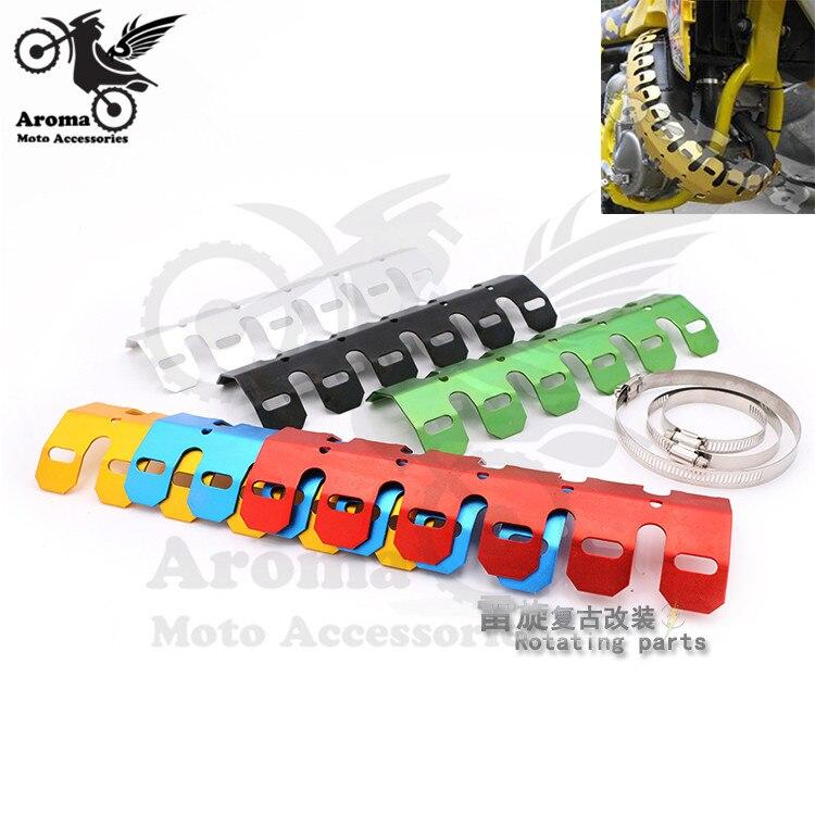Accesorios de marca universal coloridos silenciador de escape para motocicleta tubo escudo térmico protector cubierta para honda yamaha parte escape de moto