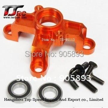 CNC - clutch bell mount - orange, silver