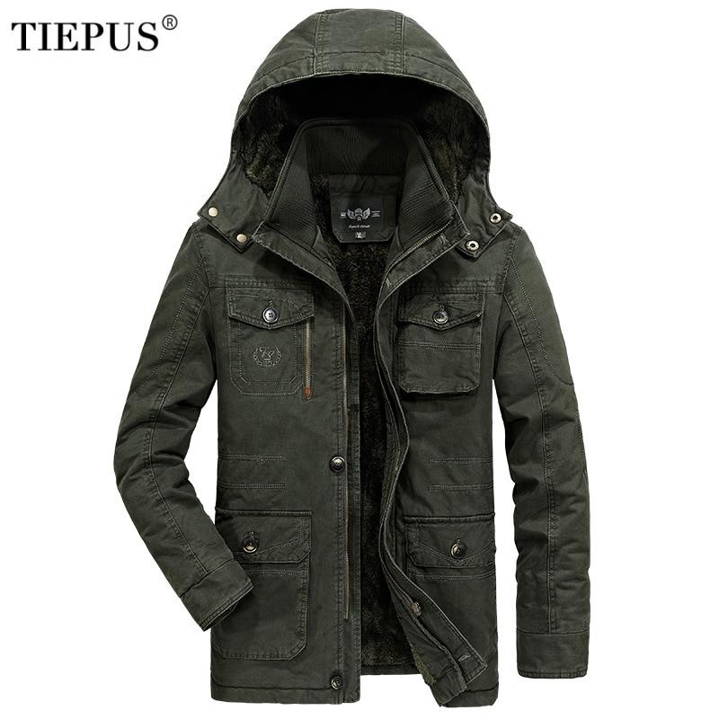 Winter Jacket Men 7XL 8XL Warm Big Size Coat 2018 Thicken Windbreaker High Quality Fleece Cotton-Padded Parkas Military Overcoat