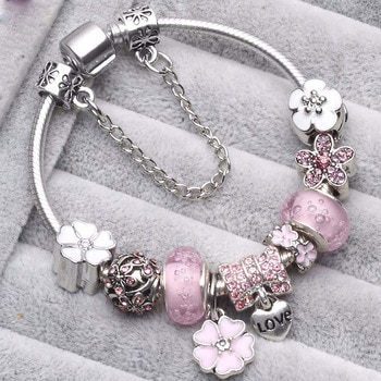 Женские винтажные браслеты с кристальными бусинами