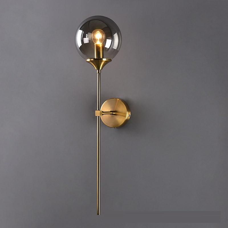 Nordic Modern Glass Wall light  Gold Wall Lamps Bedside Lamp Magic Bean Wall lights Living Room Bedroom Interior lighting E14
