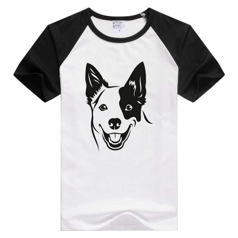 Perro de ganado australiano K-9 perro casual de manga corta de las mujeres de los hombres Camiseta cómoda camiseta estampado de moda Tops GA881