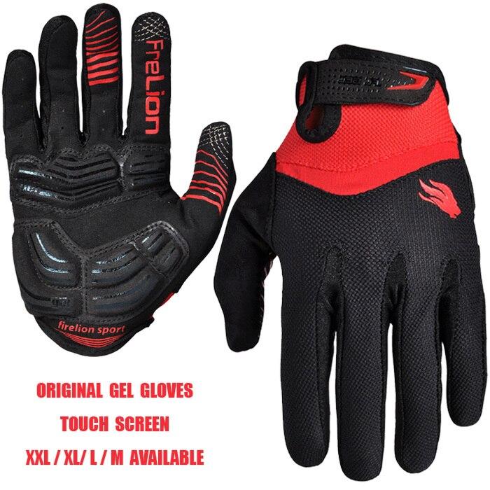 Guantes de Gel para pantalla táctil, guantes originales de dedo completo para bicicleta de montaña, guantes para bicicleta de montaña, guantes para ciclismo de descenso
