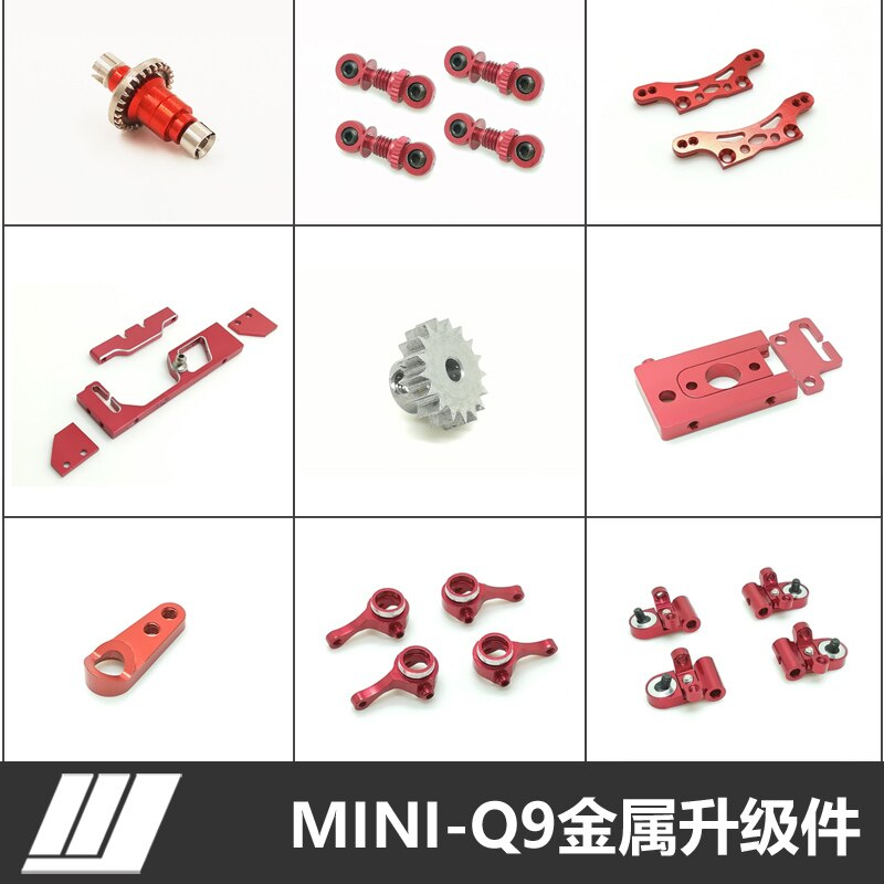 FATJAY MINI-Q 1:28 RC auto upgrade metall teile lenk tassen Krawatte stangen Schaukel arm suspension rahmen OP upgrade präzision