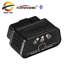 Автомобильный диагностический прибор KONNWEI KW903 ELM327 Bluetooth OBD2 OBDII, новый продукт, бесплатная доставка