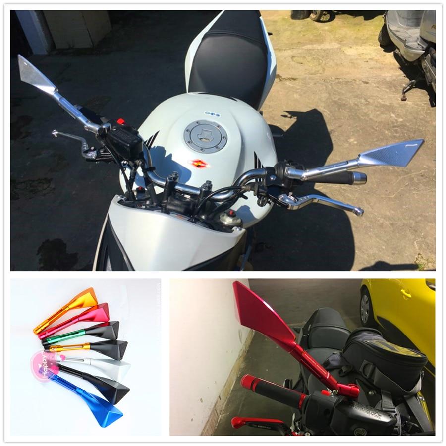 Lado de aluminio espejo retrovisor de motocicleta para TRIUMRH SPRINT GT RS ST RS calle doble THRUXTON R Steve McQueen SE