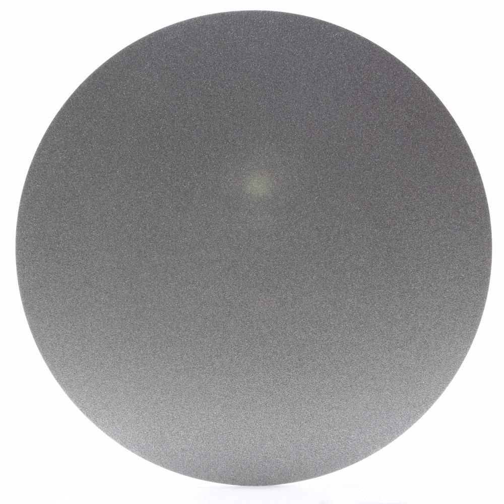 قرص جلخ ماسي ، بدون ثقب مركزي ، 10 بوصة ، حبيبات 80 إلى 1000 ، عجلات مطلية ، قرص مسطح 250 مللي متر ، لأدوات مجوهرات الأحجار الكريمة