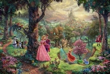Thomas Kinkade-toile imprimée   Décoration de maison, belle au bois dormant, salon, chambre à coucher, photo murale, peinture artistique HD