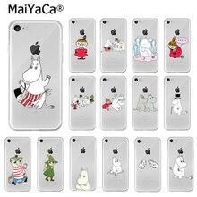 MaiYaCa belle hippopotame Moomin Pikku myy coque de téléphone souple pour iPhone X XS MAX 6 6s 7 7plus 8 8Plus 5 5S SE XR