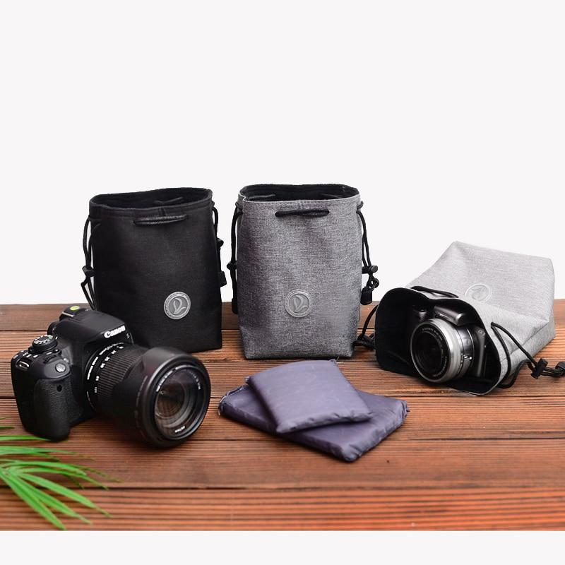 Coulisse Antiurto Macchina Fotografica Tasche Fascio Panno Lente Protettiva Del Sacchetto Del Sacchetto Per Canon Nikon Fuji Leica Sony Olympus Panasonic