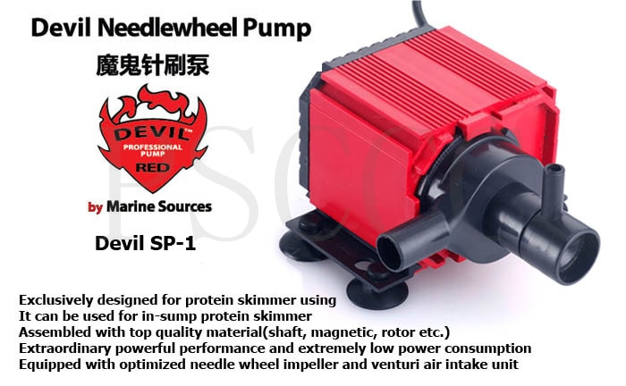 Marine Source Red Devil SP1/SP-1 Needle brush pump, Protein separator pump,Designed for high-end aquarium,High efficiency,silent