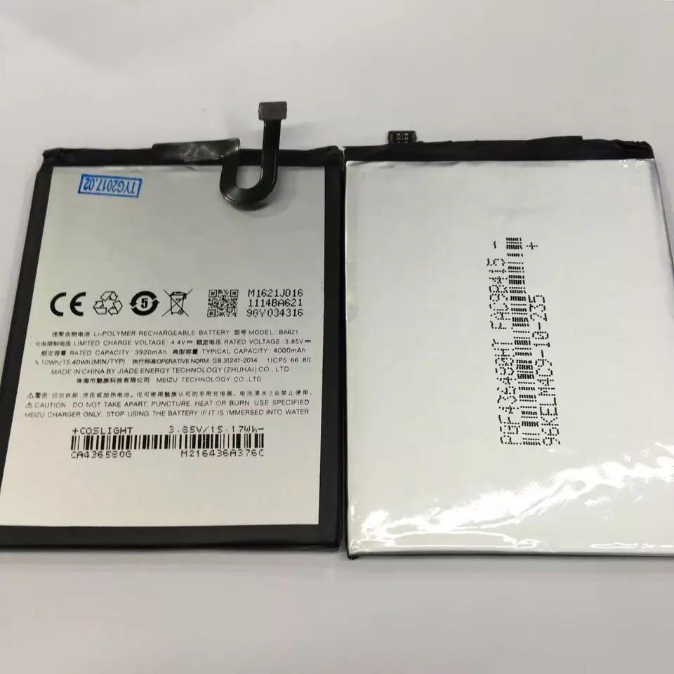 Jinsuli New original mobile phone battery BA621 3920mAh For Mei zu Note 5 Replacement Battery