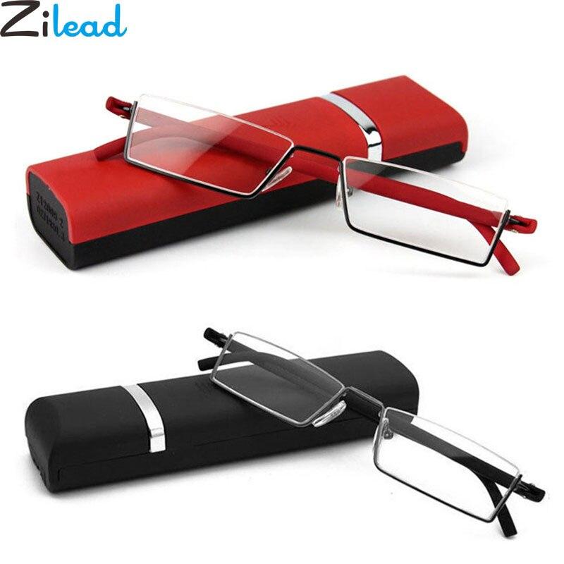 Zilead Comfy Light Half Frame Reading Glasses TR90 Resin HD  Foldable Presbyopic Glasses Unisex For Women&Men Fashion