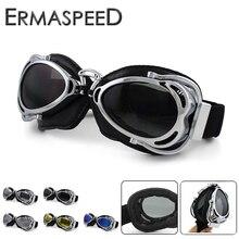 Gafas de Moto Retro casco clásico Jet Ski Steampunk gafas motocross Pilot gafas para Harley Chopper Cafe Racer