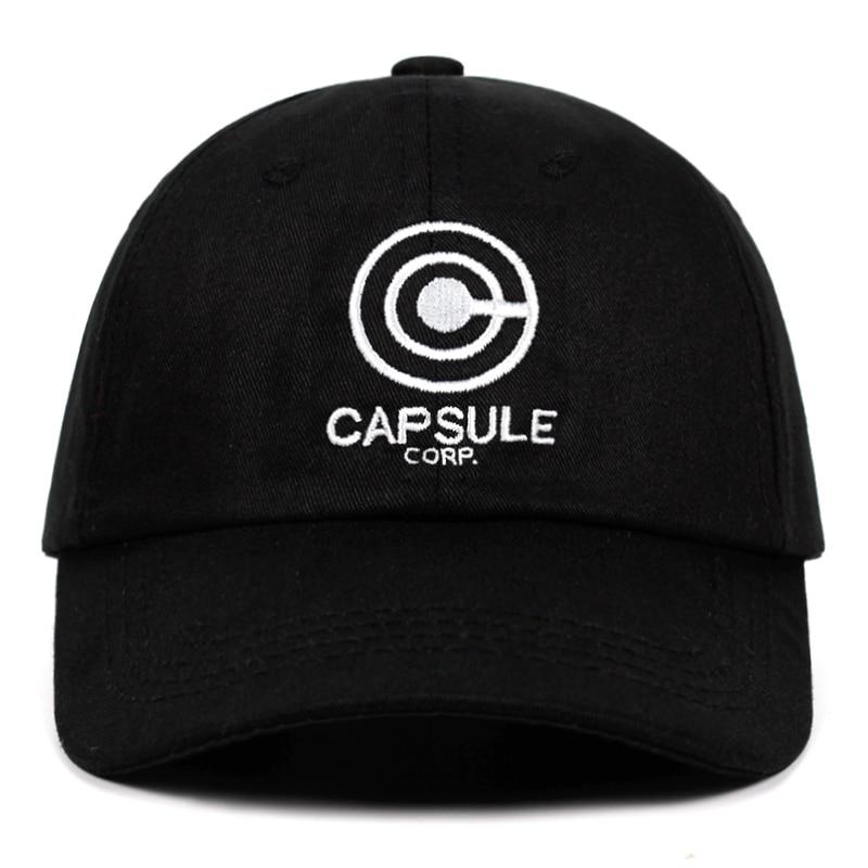 Cápsula corp Papá Hat Dragón Ball Anime song 100% algodón bordado Snapback sombreros Unisex béisbol gorras hombres mujeres sombreros para vacaciones