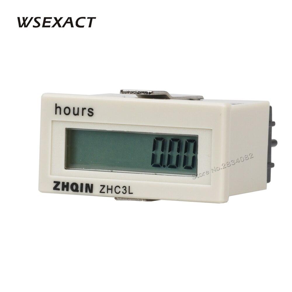 100-220VAC 4-30VDC без напряжения Счетчик часов 8 цифр Цифровые таймеры 9999h59m59s 999999h59m 48*24 мм ZHC3L-8