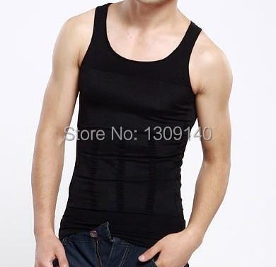 Hombres Delgado chaleco cintura adelgazante control de barriga negro blanco hombres Shapewear hombres moldeadores de cuerpo envío gratis