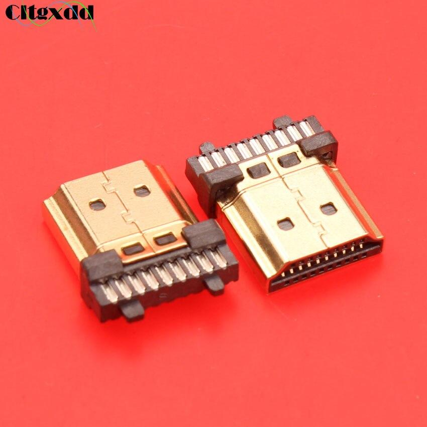 19 pin HDMI штекер разъем позолоченный HDMI Sockect ремонт замена пайки типа А