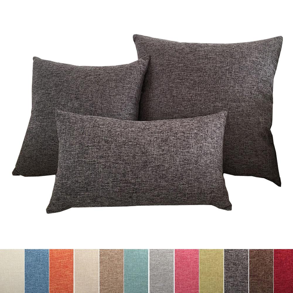 Solid sofa cushion cover 30x50/40x40/45x45/40x60/50x50/55x55/60x60cm decorative throw pillow case co