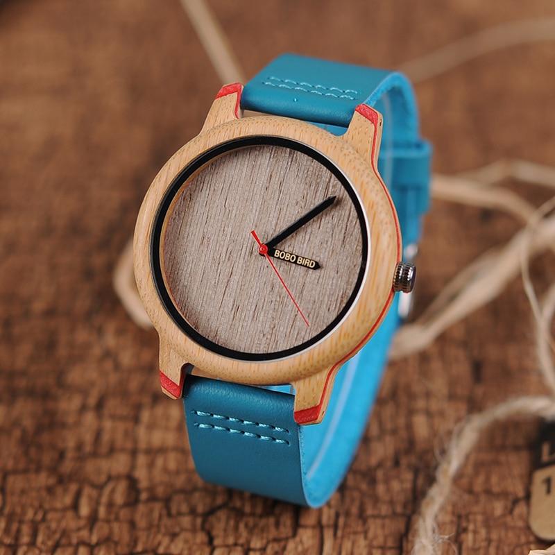 BOBO BIRD Watches Men Quartz Analog Bamboo Wirstwatch Male In Wood Box kol saati Customized logo