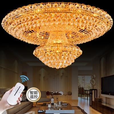 Континентальный Круглый Золотой гостиной атмосфера лобби ресторан кристалл роскошный отель 1,2 1,5 м потолочные светильники