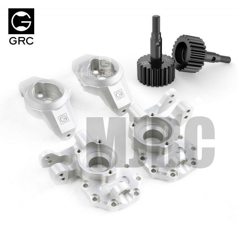 MJRC GRC TRAXXAS TRX4 G2 Aluminum Ackermann Caster Blocks & Portal Drive Housing #GAX0032G
