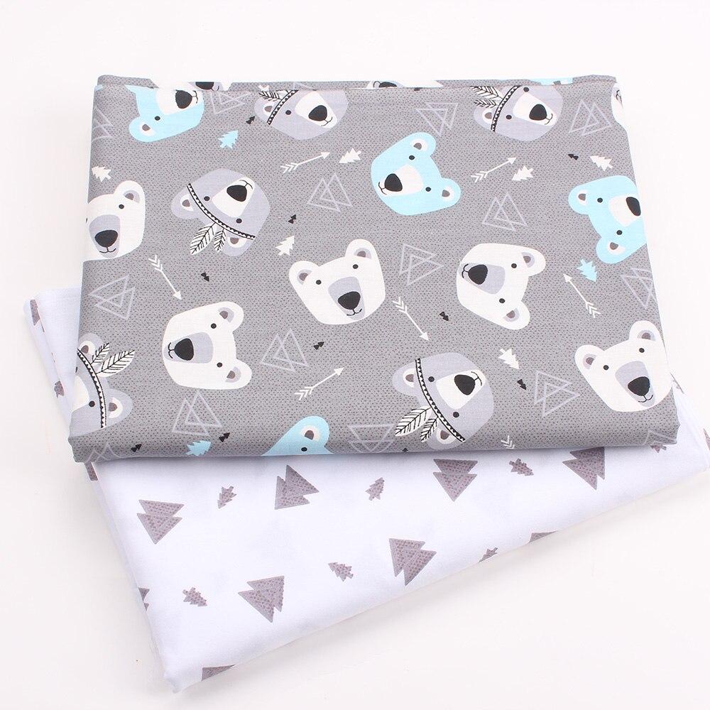 ¡Nuevo! 2 piezas por lote, 40x50cm, tela de algodón para coser almohada de bebé, Patchwork, ropa de cama, vestido tela para ropa de muñeca DIY k436