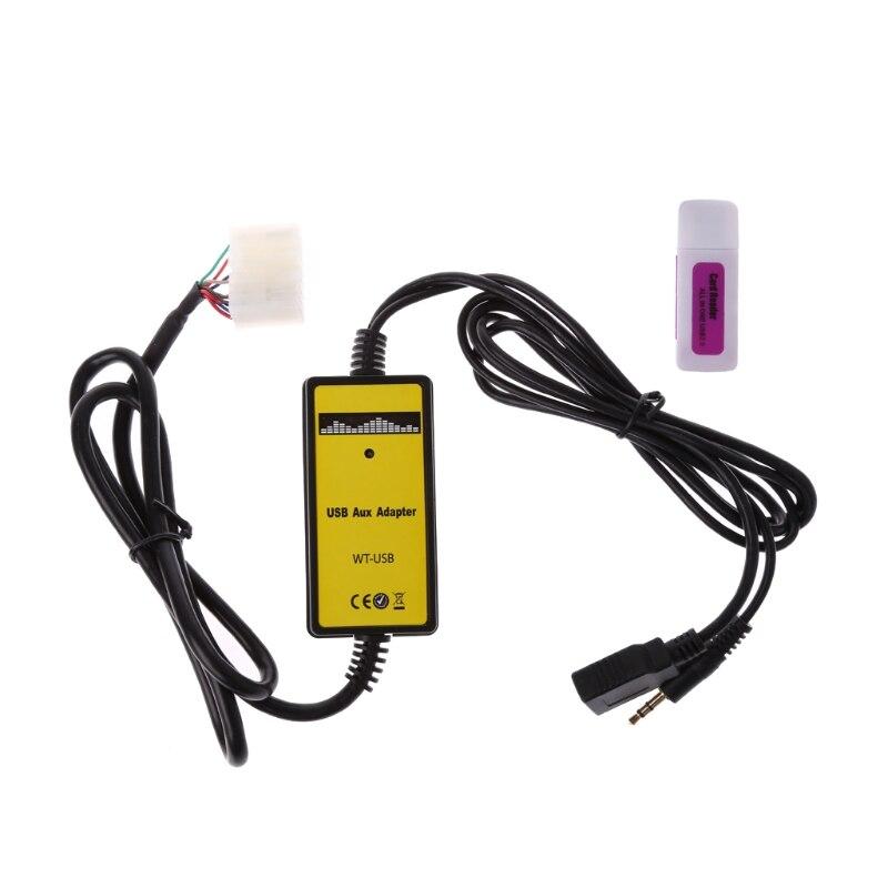 Автомобильный USB AUX MP3 адаптер, музыкальный CD плеер, автозапчасти для Toyota До 2003 Lexus 5 + 7Pin интерфейс комплект для стайлинга автомобиля