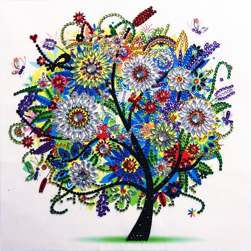 5D DIY Diamond Painting Four Seasons Tree Special Shape Diamond Painting Rhinestone Crystal Diamond Home Decoration