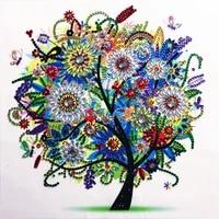 Peinture diamant quatre saisons  5D  bricolage  arbre  forme speciale  strass  cristal  decoration de la maison