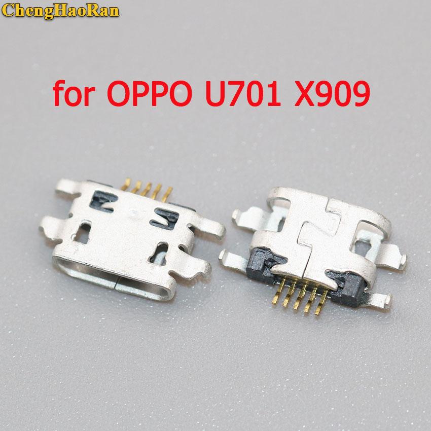 ChengHaoRan para OPPO U701 U701T U705T X909 X909T U2S U707T R801 R827 R6007 R8007 Micro USB jack conector de puerto de carga hembra