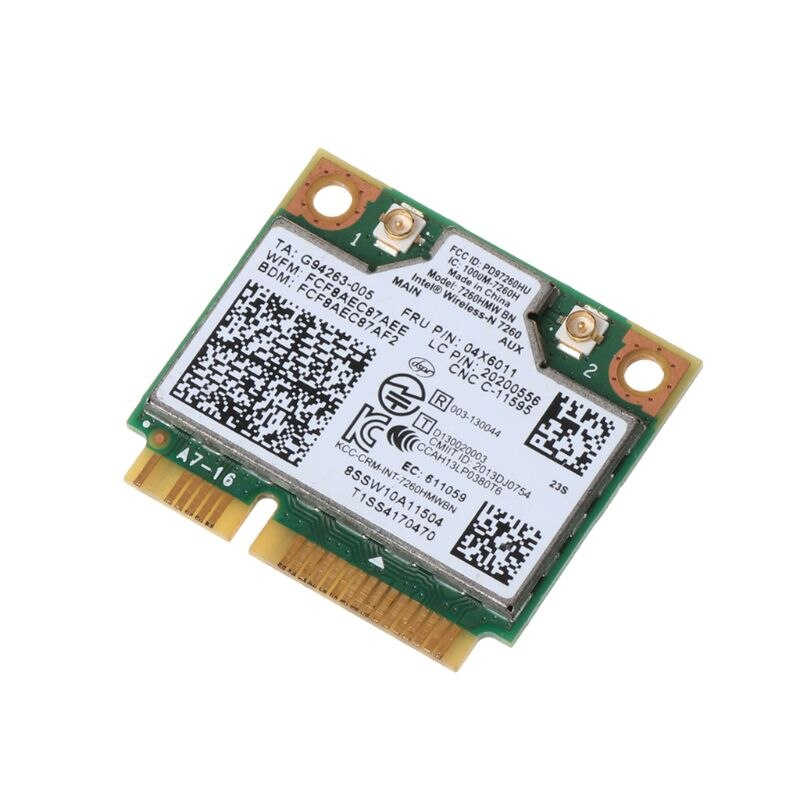 Tablet-Intel Wireless 7260NGW Bluetooth 4,0 BN WiFi Wlan NGFF tarjeta 300M 04X6011 04W3815 para Lenovo Thinkpad