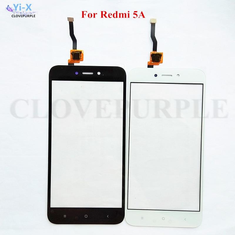 10 unids/lote de piezas de reparación de panel táctil para Xiaomi Redmi 5A digitalizador de pantalla táctil frontal Sensor de panel de vidrio