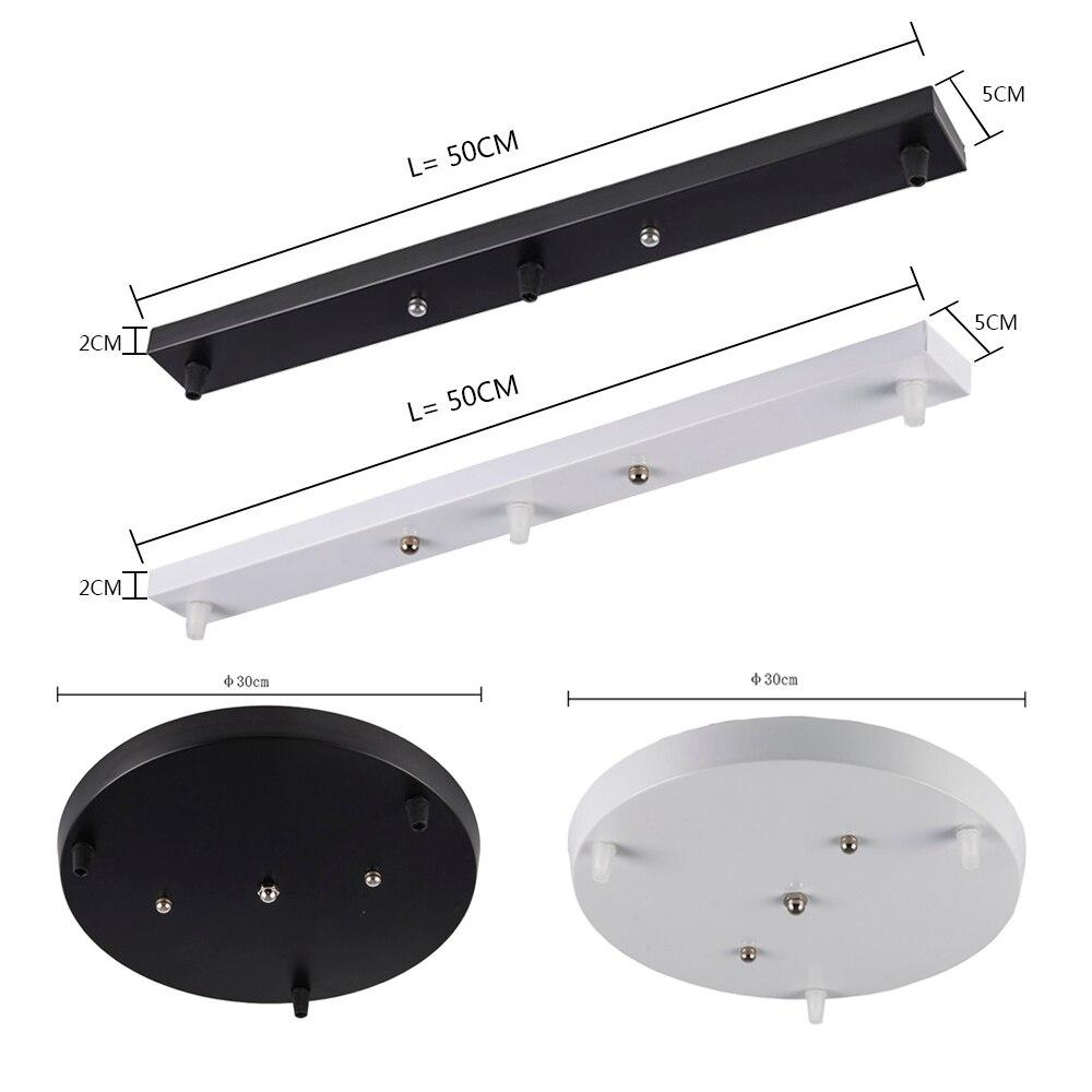 Tres lámparas, Base de lámpara, accesorios de iluminación de alto grado, accesorios de iluminación rectangulares redondos en blanco y negro
