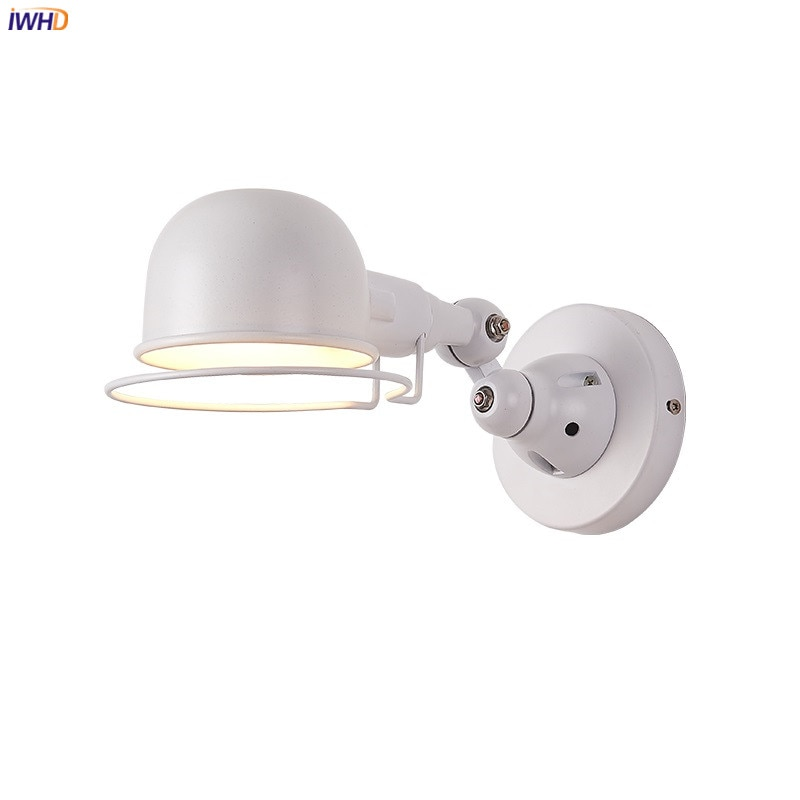 IWHD Amercian Adjustable Retro Wall Lights Fixtures Bedroom Living Room Beside Lamp LED Stair light Wandlampen Lampara Pared iwhd nordic retro vintage wall lamp beside bedroom bathroom mirror light glass copper wall sconce edison led lampara pared
