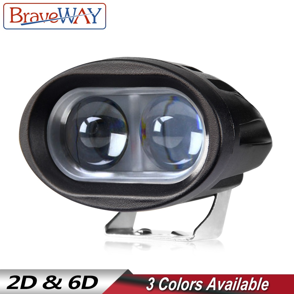 BraveWay 1PCS LED Headlights for Car Motorcycle Truck Tractor Trailer SUV ATV Off-Road Led Work Ligh