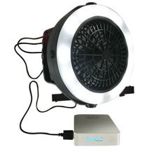 3 in 1 Tragbare Wiederaufladbare USB LED Fan Licht Zelt Lampe Laterne Mit Haken für Outdoor Camping Wandern SDF-SHIP
