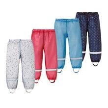 Yuding-pantalons pour enfants   Pantalons pour bébés garçons et filles de 85-130cm, pantalons de pluie imperméables en plastique pour enfants avec rayures réfléchissantes