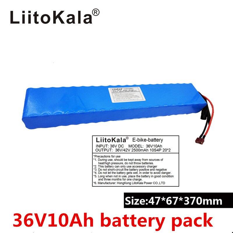 2019 LiitoKala 36 v 10Ah 10S4P 18650 Rechargeable Battery, Modified Bikes, Electric Vehicle Battery Charger 18650 li-lon
