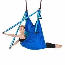 Antenna di Yoga Altalena Volare Amaca Anti-Gravity 6 Hand Grip Appeso Sedia Ultra Forte Sling Per Antigravità Inversione di Fitness