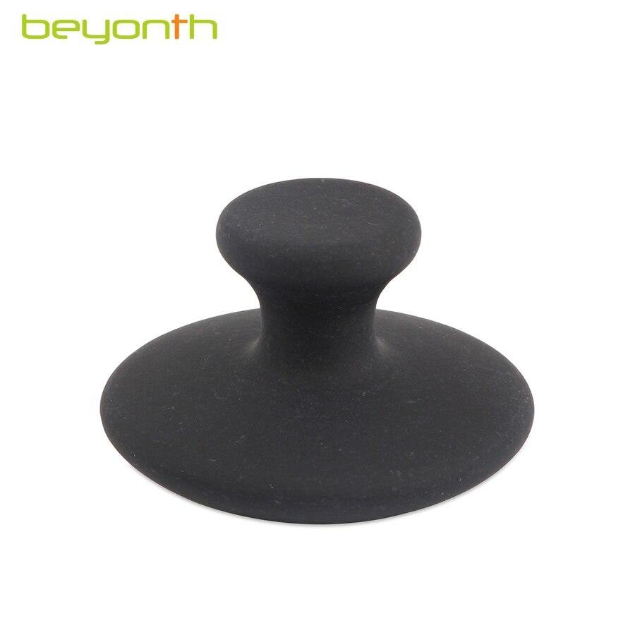 Beyonth natural preto cogumelo bian pedra agulha energia massagem facial guasha acupuntura beleza cuidados de saúde 5.5x3.5mm