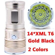 Super 34000LM nouvelle Version 14 x XML T6 14T6 lampe de poche LED torche lanterne 4x18650 piles rechargeables chasse lampe de Camp