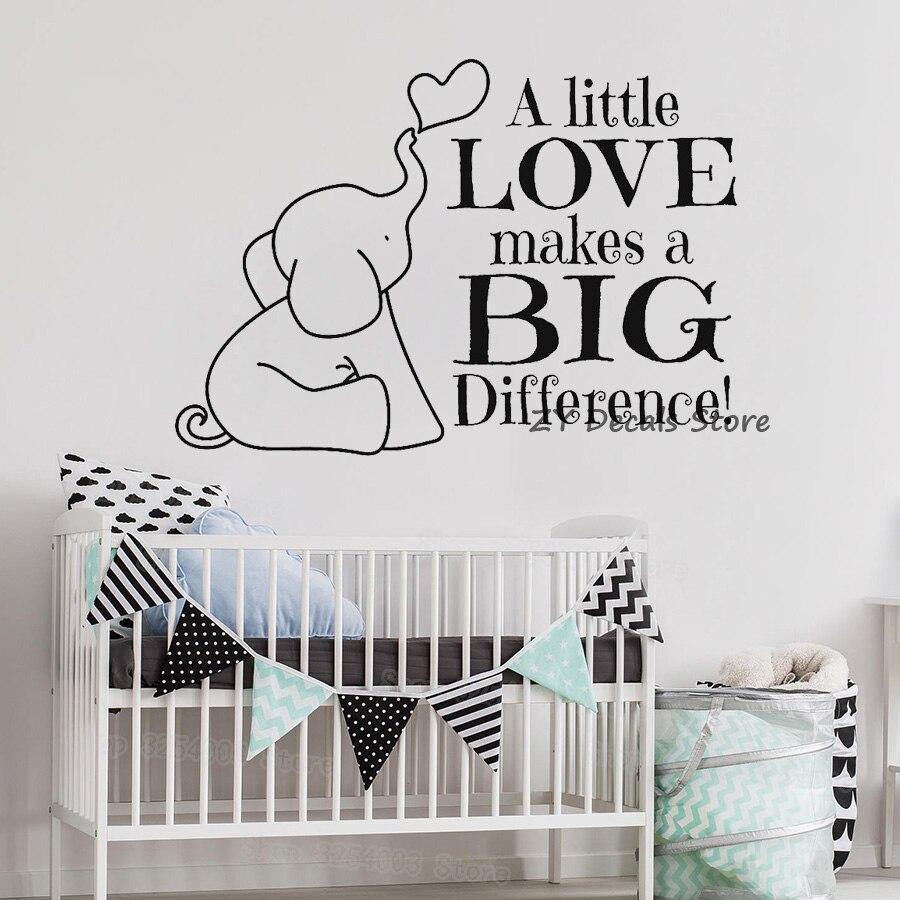 Cita de elefante lindo pegatinas de pared para bebé guardería de la Biblia vinilo etiqueta de la pared niños dormitorio Cristiano Arte pegatina papel de pared S602