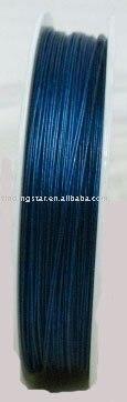 Envío gratis 3 rollos de alambre de cuentas de cola de tigre azul oscuro 0,38mm M227