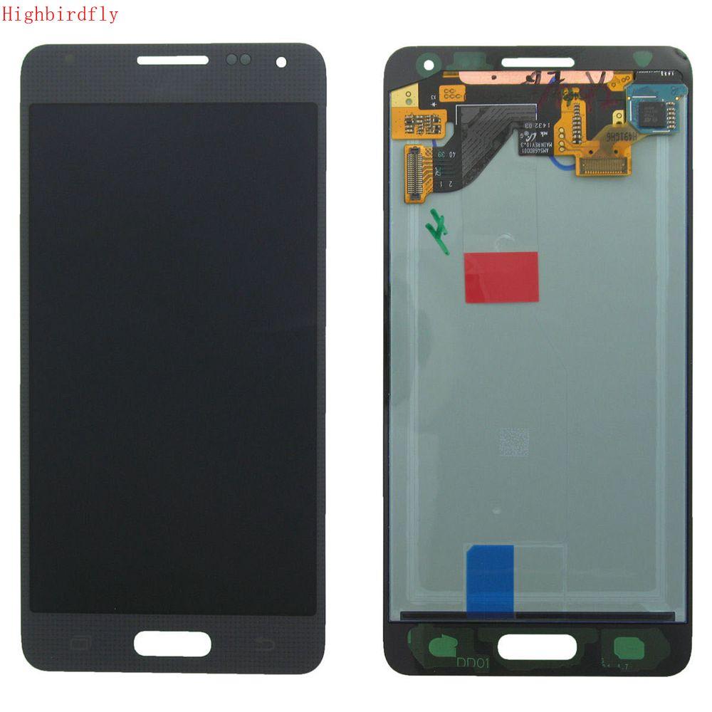 Highbirdfly для Samsung Galaxy Alpha G850 G850M G850F G850Y ЖК-экран + Сенсорное стекло дигитайзер сборка ремонт телефонов lcds