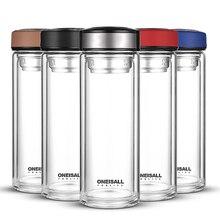Gobelet de boisson en verre Borosilicate café   Bouteille deau de 500ML tasse de thé avec filtre à thé, tasse de voiture pour les entreprises, bouteille de bureau