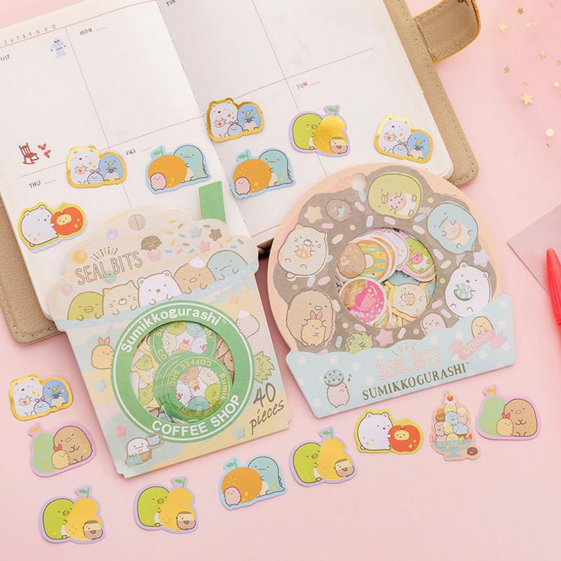 1 упаковка стильных стикеров Sumikko Corner San-X Corner Bio sticker s Diary Label Sticker s Decor Scrapbooking Sticker s toy