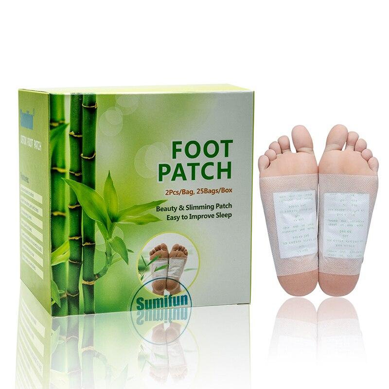 Parche de pie de vinagre de bambú de descompresión tradicional de 50 Uds con cinta para el cuidado de la salud del pie parche chino para eliminar la suciedad y relajarse