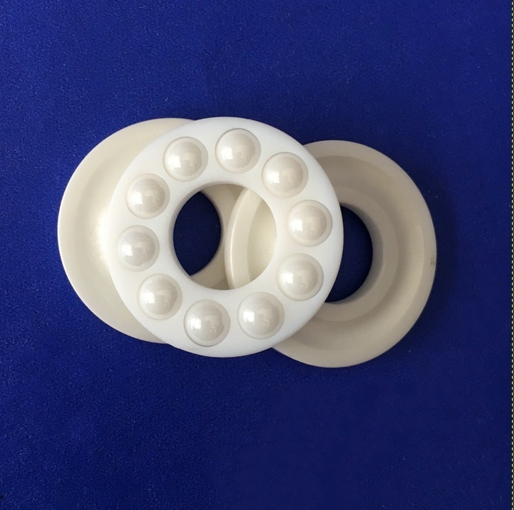10 Uds 51100, 51101, 51102, 51103, 51104 ZrO2 de cerámica bola axial cojinete de empuje 10x24x12x26x9 15x28x9 17x30x9 20x35x10mm